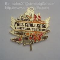 China Custom metal sports challenge medals, painted designer metal sports medals and medallion, wholesale