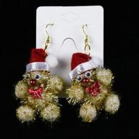 Buy cheap Earrings with Decoration for Christmas, Available in Various Colors, Measures 8 x 4cm and 6.4g product