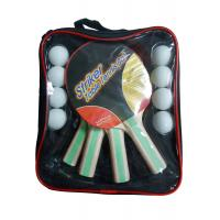 Carry Bag Packing Table Tennis Set 5mm Plywood Bats 8 PVC Balls With Rubber