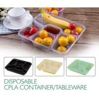 Buy cheap Disposable corn starch plates biodegradable corn starch food container, Disposable PLA Serving Divided Lunch Tray product