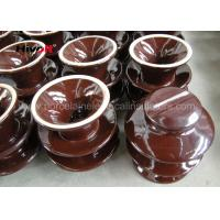 Buy cheap Professional High Voltage Ceramic Insulators Brown / Grey Color Porcelain C-120 product