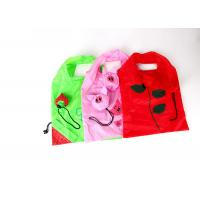 Quality Strawberry Shape Polyester Folding Tote Bag 190T Polyester Material OEM / ODM for sale