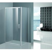 Buy cheap Shinning Glass Shower Enclosures , Chrome Framed Shower Enclosure Coner Sliding Open product