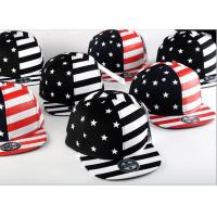 Buy cheap Painting USA Flag Cool Snapback Hats For Men , Structured Blank Logo Boys Snapback Hats product