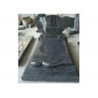 Buy cheap Blue Polished Graveside Monuments Headstones Unique Personalized Design product