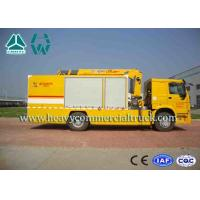 Buy cheap Yellow Large Flow Drainage rescure truck With Anti Slip Handrails HOWO product