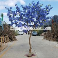 Buy cheap Safe Jacaranda Wood Purple Artificial Flower Tree Fire Retardant product