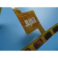 Buy cheap Double-sided flexible PCBs 0.15mm thick Polyimide PCBs Yellow Coverlay FPC PCB product