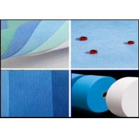 Buy cheap Polypropylene SMS Nonwoven Fabric / Spunbond Non Woven Fabric 160cm 240cm 320cm product