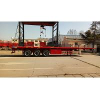 Buy cheap Cargo Container Platform Semi Trailer With Howo Heavy Duty Chassis And Twist Locks product