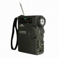 Quality Dynamo Radio with Three-way Power Supply and Weather Band Radio Broadcasts for sale
