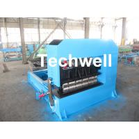 Buy cheap 0-10M / Min Cold Roll Forming Equipment , Roof Sheet Making Machine 500mm Curving Radius product