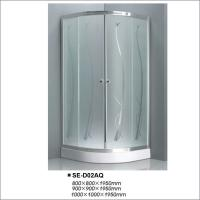 Buy cheap Professional Sliding Bathroom Shower Enclosure With Acid Glass Double Door product