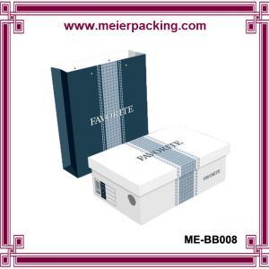 Custom men shoes paper packaging box/Sandal paper bag in summer ME-BB008