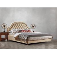 Buy cheap Good quality Gery Fabric Upholstered Headboard Queen Bed Leisure Furniture for American design Apartment Bedroom set product