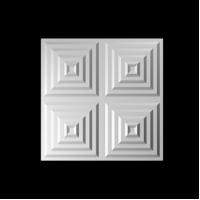 Buy cheap 3dboard wall decor panels 500*500 metal panels with original colcor RUBY product