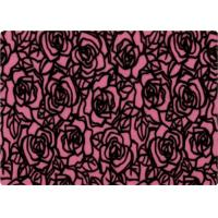 Buy cheap 100% Polyester Rose Patterned Flocked Velvet Fabric 140-150gsm product