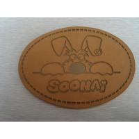 custom Luxury jeans leather patch labels with your artwork factory