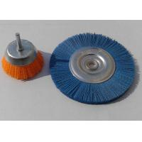 China 0.8 Mm Bristle Dia Abrasive Wheel Brush / Nylon Sanding Brush For Light Deburring on sale