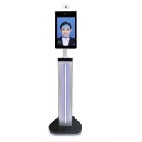 China AI Face Recognition Camera Body Floor Standing Temperature Scanner on sale