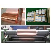 Buy cheap Samsung Mobile Rolled Copper Foil RoHS / ISO Approval 500 - 5000M Length product
