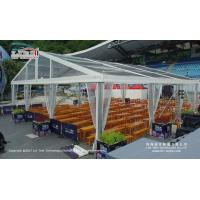 Buy cheap Large Transparent Wedding Marquee Tent With Wooden Floor Wind Load 100km/H product