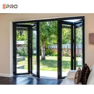 Buy cheap Aluminum Double Glass Folding Door With Aluminum Frame product