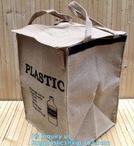 Buy cheap Lightweight collapsible jute fabric storage bin basket,Jute multifunctional moisture-proof debris storage basket desktop product