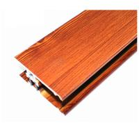 Square Wood Finish Aluminium Profiles , Different Colors Aluminium Framing