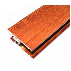 Quality Perfis de alumínio do revestimento de madeira quadrado, sistemas de quadro do alumínio diferente das cores for sale