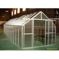 Buy cheap Aluminum Frame / 10mm UV twin-wall Portable Garden Greenhouse 8' x 32' 10 years warranty product