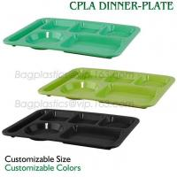 Buy cheap 5 Compartment Lunch Box Disposable Plastic Food Container, biodegradable Fast Food Tray, disposable safety meat tray product