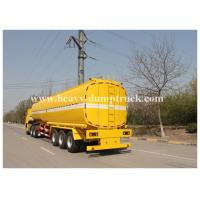 Buy cheap Single compartment small fuel tanker semi trailer three axles 36000 liters Yellow color product