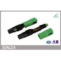 Buy cheap SC / APC fiber optic cable connectors , Quickly Assembly Fiber Fast Connector product