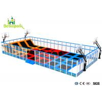 Buy cheap Commercial Indoor Playground Trampoline , Jump Trampoline Park With Safety Net product