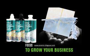 Buy cheap Semi Fluid Liquid Waterproof Tile Grout No Sagging Long Shelf Life product