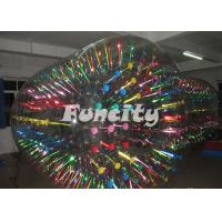 Huge Shining and Glowing Inflatable Water Roller for Kids and Adults