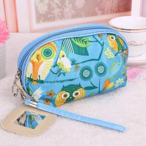 Medium Makeup Bag/ Custom Cosmetic Bags With Zipper Flower Animal Printing