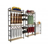 Quality Modern Style Clothing Shop Display Racks Wall Mounted Clothing Rack For Shopping Mall for sale