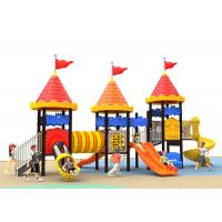 Buy cheap Galvanized Material Kids Outdoor Plastic Slide Pole 76 Diameter Residential Playground product