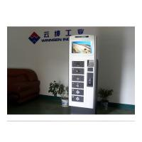 Quality 19 Inch Touch Screen LCD Cell Phone Charging Station Vending Machine Led Light Charger for sale