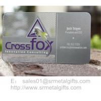 China Innovative etching metal name card and member cards wholesale wholesale