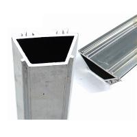 Buy cheap Square Aluminum Heatsink Extrusion / Window Frame Parts Good Water Tightness product