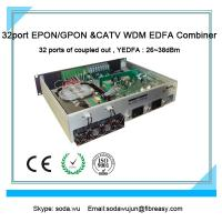 China Fiber transmission equipment of optical amplifier GEPON WDM Combiner 1550nm high power 32port PON EDFA on sale