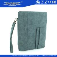 Buy cheap Imitation Fabric design PU Fashion protective Case with wrist strap and stand for the new iPad(iPad3) product