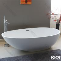 China Contemporary Free Stand Solid Surface Bathtub , Stone Resin Top End Baths on sale