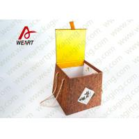 Buy cheap Bamboo Made Food Container Customized Paper Box With Ribbon Fashion Style product