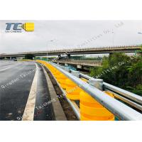 Buy cheap Galvanized Rail Safety Roller Barrier System Pu Rollers Yellow Rustproof product