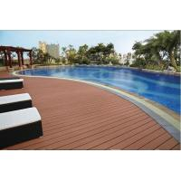 Buy cheap Weather resistant grooved competitive price wood plastic composite decking, WPC decking, w product