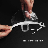 Buy cheap Hygiene Double Sided Fogging Prevention Transparent Plastic Face Mask product